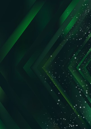 Abstract Shiny Green and Black Background Design