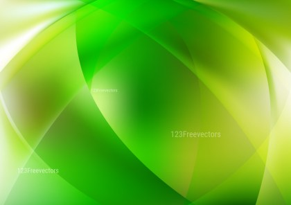 Shiny Abstract Green Yellow and White Background
