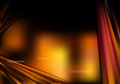 Shiny Abstract Orange and Black Background Vector Image