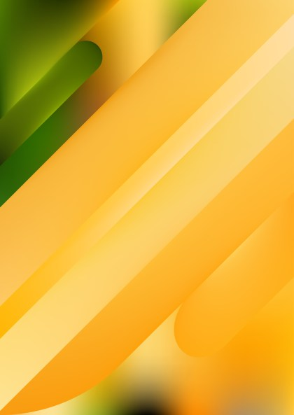 Shiny Abstract Orange and Green Background