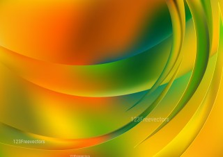 Abstract Shiny Orange and Green Background Illustration
