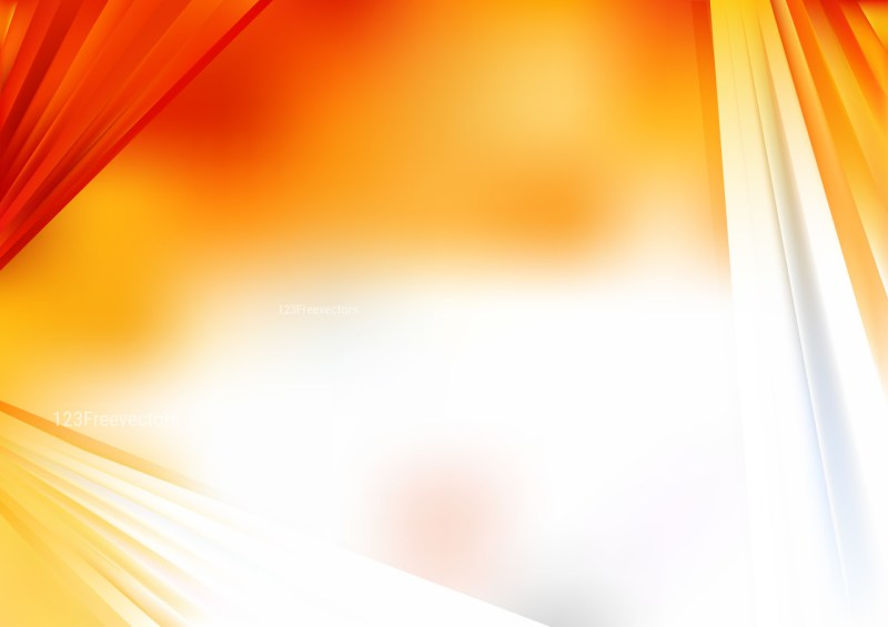 Abstract Orange and White Graphic Background