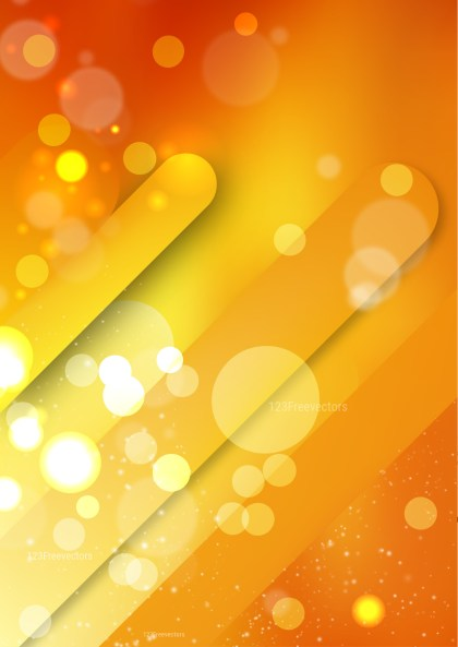 Shiny Abstract Orange and Yellow Background