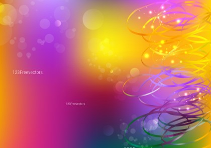 Abstract Orange Purple and Green Background