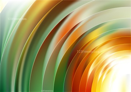 Shiny Abstract Orange White and Green Background Graphic