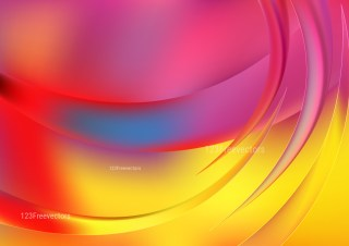 Abstract Pink Blue and Yellow Graphic Background