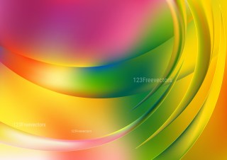 Abstract Shiny Pink Green and Yellow Background Vector Illustration