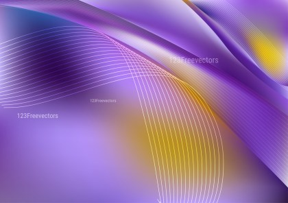 Abstract Shiny Purple and Yellow Background Vector Art