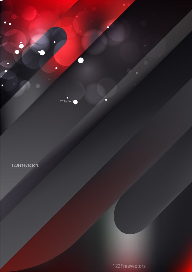 Abstract Shiny Red and Black Background Illustration