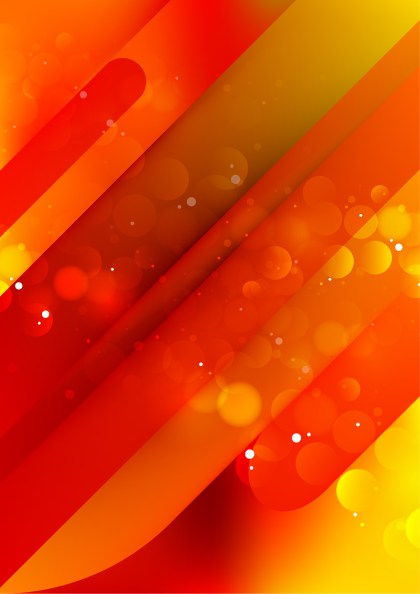 Shiny Abstract Red and Yellow Background Vector Graphic