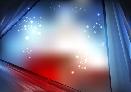 Abstract Shiny Red White and Blue Background Vector Graphic