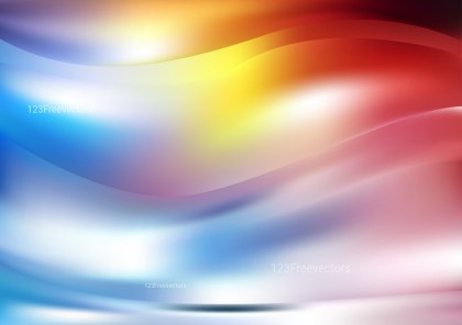 Shiny Abstract Red Yellow and Blue Background Illustrator