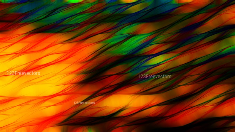 Red Yellow and Green Abstract Background Design