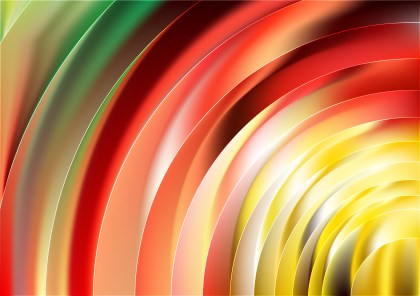 Abstract Shiny Red Yellow and Green Background Image