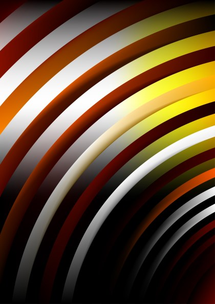 Abstract Shiny Yellow Orange and Black Background Vector Image