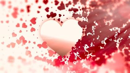 Blurred Beige and Red Valentines Day Background