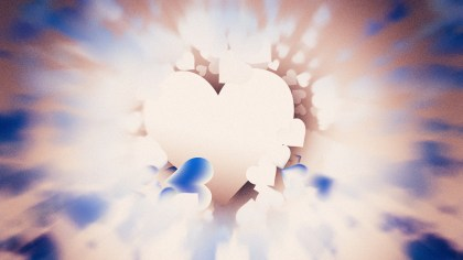 Motion Blurred Blue and Brown Love Background