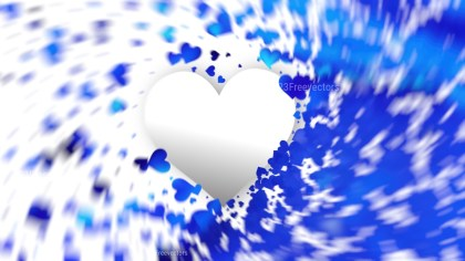 Blurred Blue and White Valentines Background
