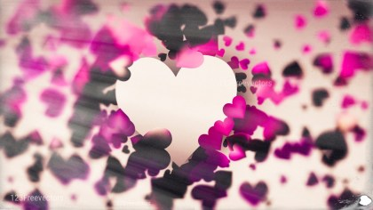 Blurred Brown Pink and Black Heart Background Graphic