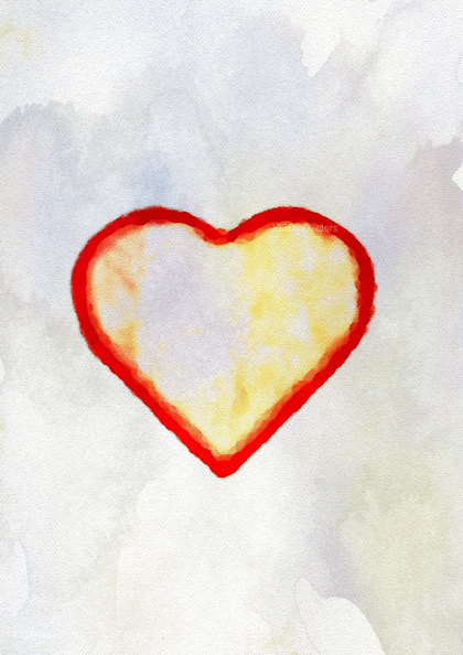 Light Color Watercolor Heart Background