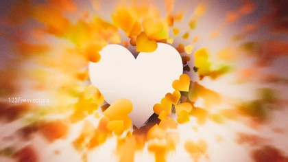 Motion Blurred Orange and Brown Valentines Day Background Image