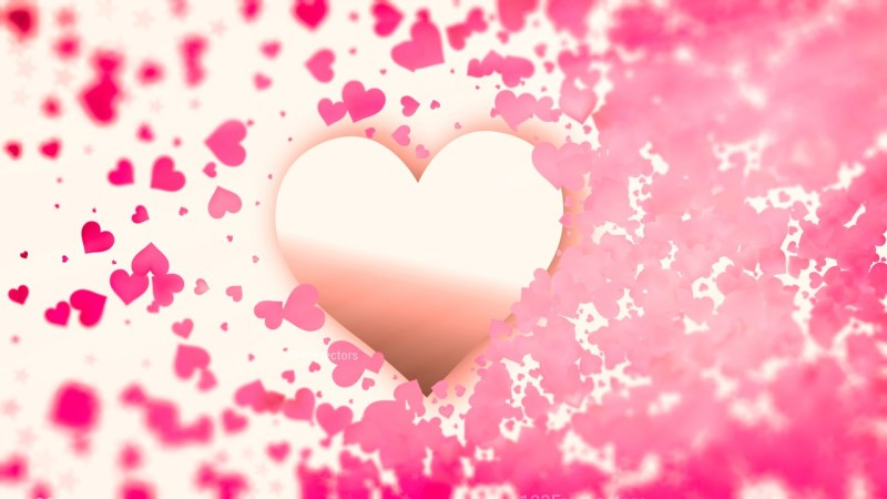 Blurred Pink and Beige Heart Wallpaper Background