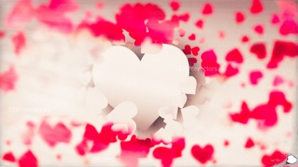 Motion Blurred Pink and Brown Heart Background