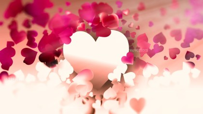 Motion Blurred Pink and Brown Valentines Background Design