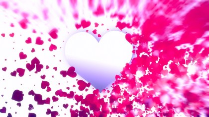 Blurred Pink and White Valentines Background Design