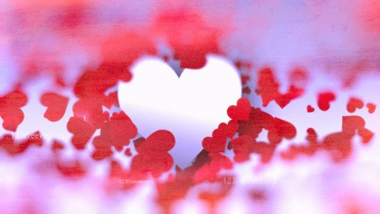 Blurred Red and Blue Love Background