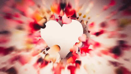 Blurred Red and Brown Heart Wallpaper Background