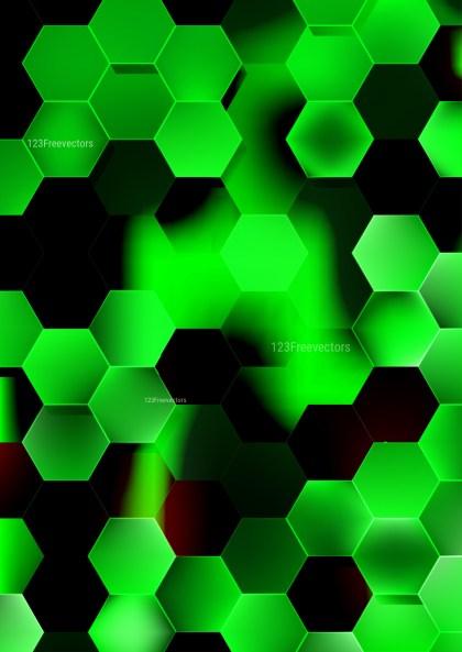 Cool Green Hexagon Background