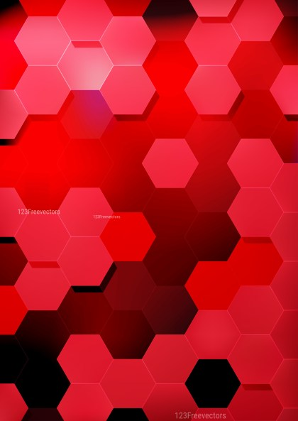 Red and Black Hexagon Background