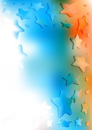 Blue Orange and White Star Background Graphic