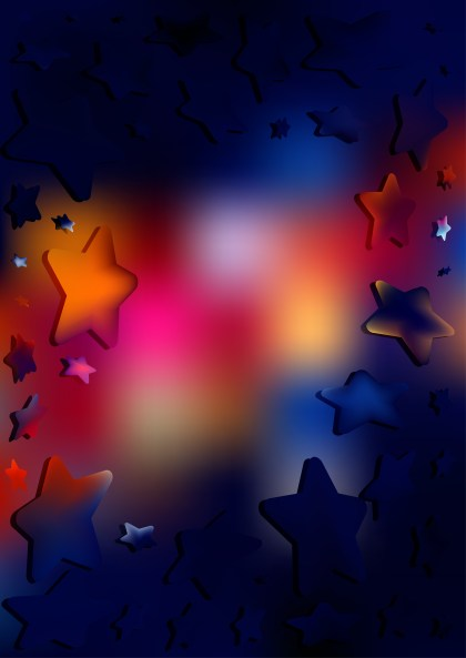 Abstract Dark Color Star Background Vector Art