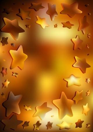 Dark Orange Star Background Vector Illustration