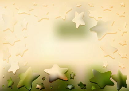 Abstract Green and Beige Star Background