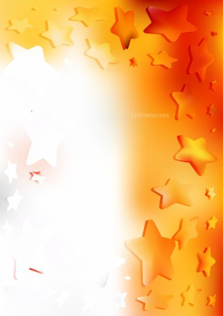 Abstract Orange and White Star Background