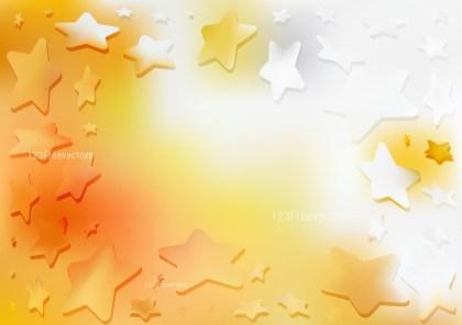Orange and White Star Background Image