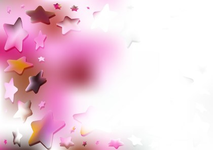 Abstract Pink and White Star Background