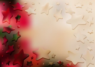 Red Brown and Green Star Background