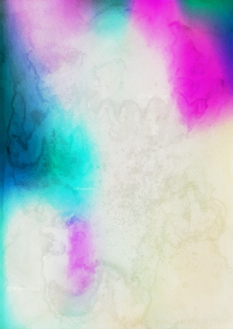 Beige Blue and Pink Watercolour Background Texture