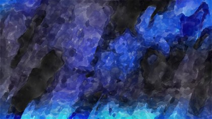 Black and Blue Watercolor Background Image