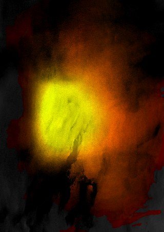 Black Red and Yellow Aquarelle Texture