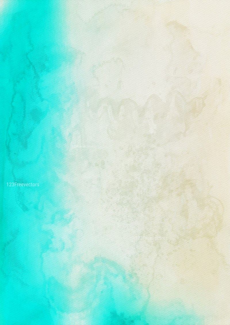 Blue and Beige Watercolor Background