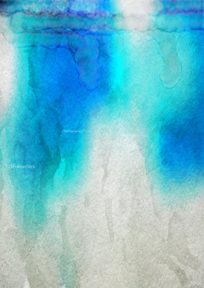 Blue and Grey Watercolor Background Texture Image