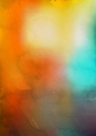 Blue and Orange Grunge Watercolour Background