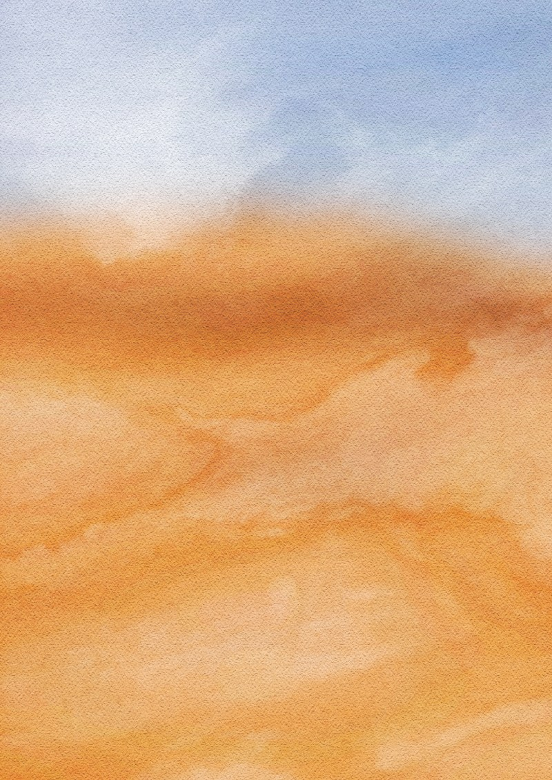Blue and Orange Watercolor Texture Background
