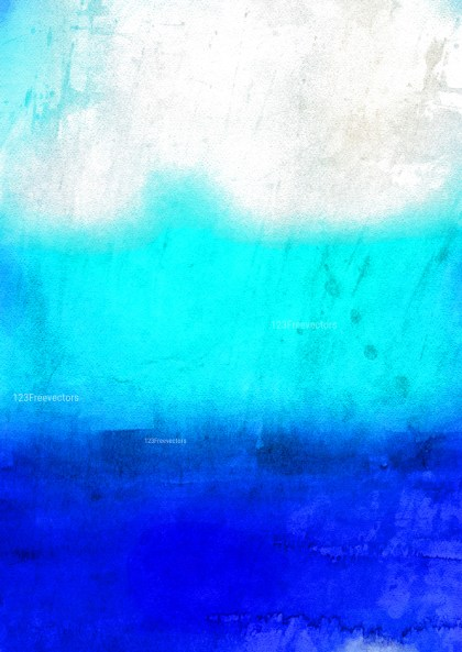 Blue and White Grunge Watercolor Background