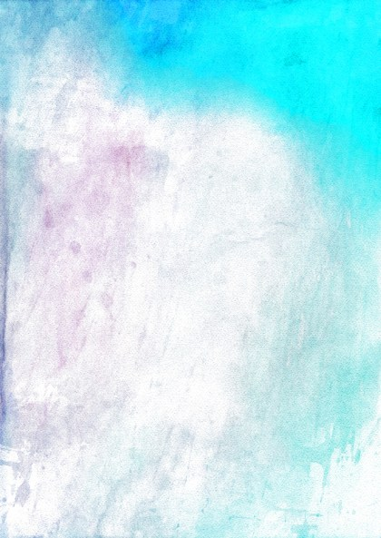 Blue and White Distressed Watercolor Background